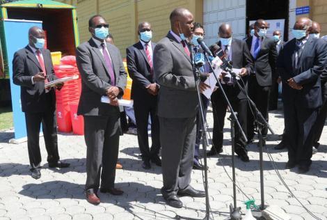 Nakuru Governor Lee Kinyanjui addresses the media on May 21, 2020