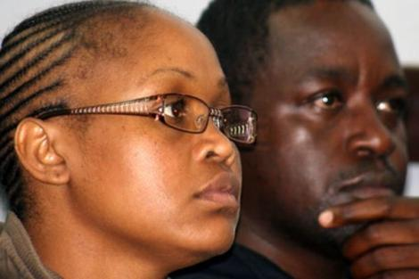 Jane Wambui Wanjiru (left) and her husband Joseph Wanjohi Muthie during the hearing of their drug trafficking case at the Kibera Law Courts in Nairobi in 2009.