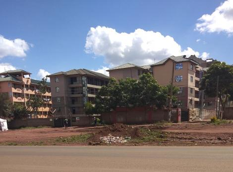 Apartments marked for demolition in Ruaka.