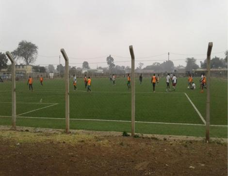Footballers pictured at the Camp Toyoyo grounds
