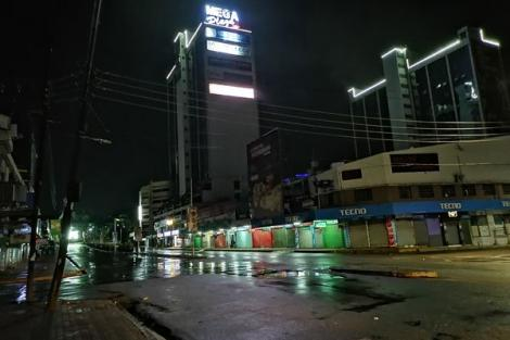 Deserted Kisumu street following the nationwide curfew on March 27, 2020.