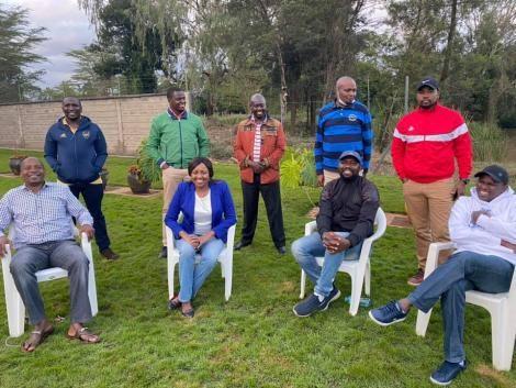 Jubilee Party legislators Kipchumba Murkomen, Moses Kuria, Susan Kihika, Kithure Kindiki, Rigathi Gachagua, Aaron Cheruiyot, Nixon Korir, Kimani Ichung'wa and Ndindi Nyoro during a meeting on Saturday, May 23, 2020