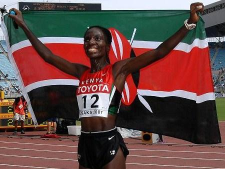 Catherine Ndereba, marathoner and currently the assistant commissioner of prisons