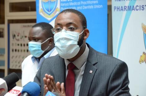 KMPDU acting Secretary general Dr. Chibanzi Mwachonda