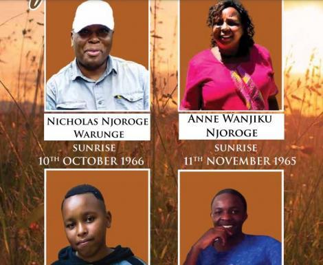 Four family members who were murdered on January 5, 2021 in Kiambaa, Kiambu County.