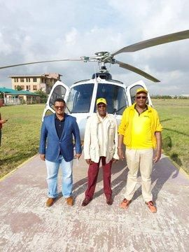 Left to Right: Hassan Omar, UDA Chairperson Johnstone Muthama and Eliud Owalo ahead of their visit to Matungu on January 18, 2021.