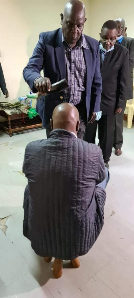 Baringo Senator Gideon Moi being crowned as a Talai Clan elder on January 22, 2020