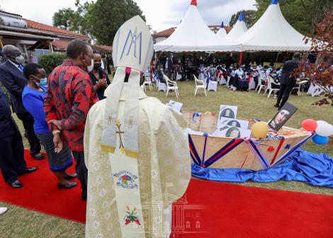 President Uhuru Kenyatta attends the commemoration of 100 years of the Loreto Eastern Africa Province at Loreto Mary Ward Center in Karen, Nairobi County