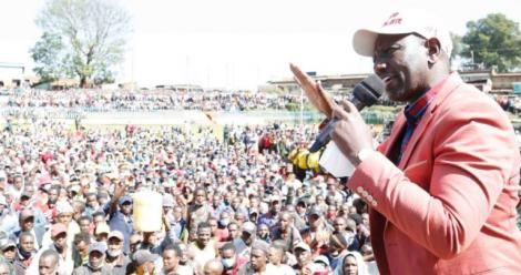DP William Ruto speaking in Bomet on January 15, 2021.