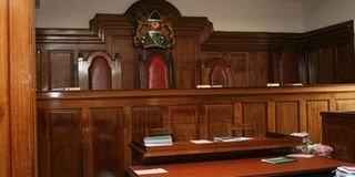 An empty court room.
