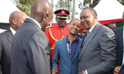 President Uhuru Kenyatta and MP Babu Owino at a past function