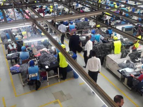 A factory in an EPZA zone in Kenya