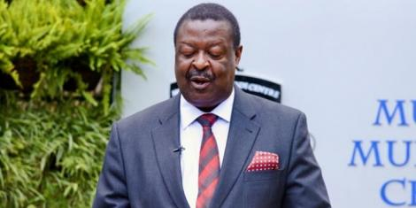 ANC Party Leader Musalia Mudavadi addressing the nation from Musalia Mudavadi Centre on March 25, 2020