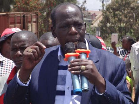 Juja MP Francis Munyua addressing the press during a past event.