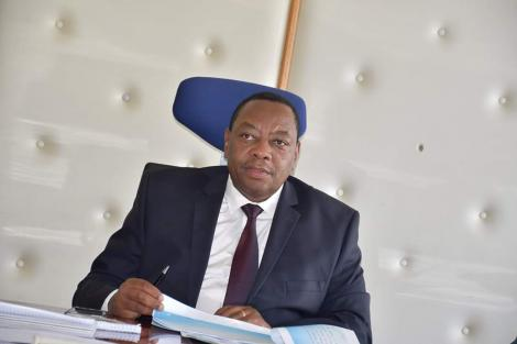 The Principal Secretary for Water, Sanitation, and Irrigation Joseph Irungu presenting 2020/2021 a Budget Policy Statement before parliament on February 19, 2020