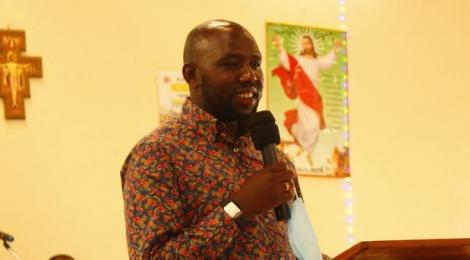 Elgeyo Marakwet Senator Kipchumba Murkomen at Athi Catholic Church in Igembe South, Meru County, on October 25, 2020.