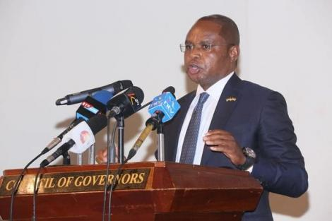 Kilifi Governor Amason Kingi during a press briefing on January 13, 2021