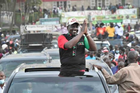 Deputy President William Ruto during a past rally