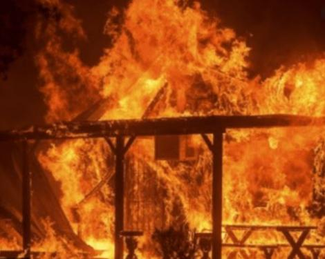 File image of a house on fire