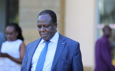 Kakamega Governor Wycliffe Oparanya at Kenya School of Government (KSG) for a consultative meeting on February 20, 2020