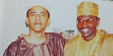 Barack Obama with his brother Malik at the latter's wedding