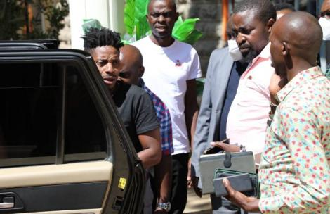 Comedian Eric Omondi was arrested on Thursday, March 11, 2021