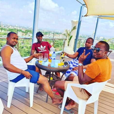 Nairobi Chairman of Matatu Operators Jamal Ibrahim on holiday with friends