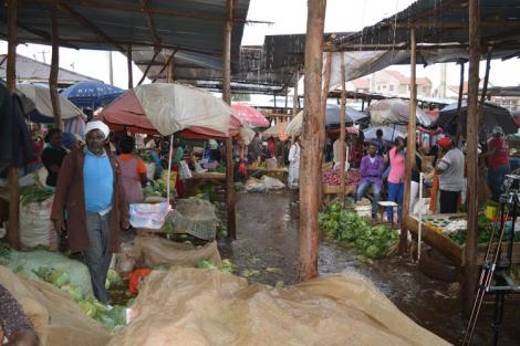 Traders at Kiambu Market
