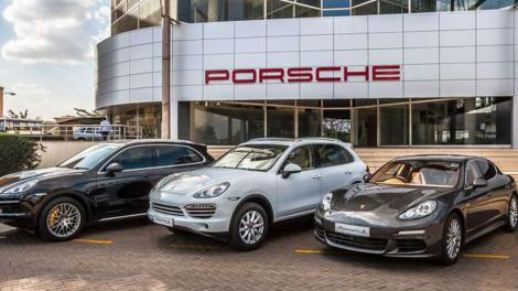 Porsche Centre Nairobi at Sameer Business Park.