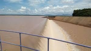 an undated photo showing Masinga Dam overflowing in Mwingi.