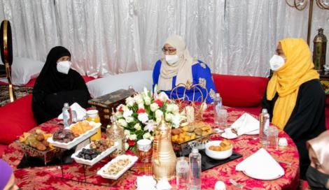 Part of Kenyan Muslim women at the State House, Nairobi on May 4, 2021.