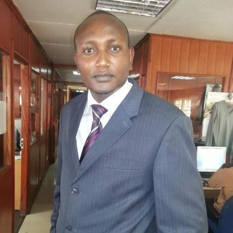 Former Citizen TV reporter Kendagor Obadiah
