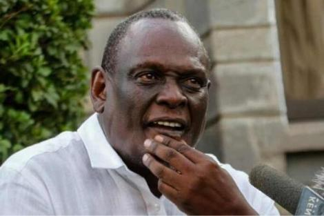 Jubilee Vice Chairperson David Murathe speaking to the press in a past briefing