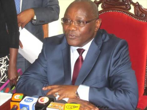 Kisii Governor James Ongwae during a previous press briefing.