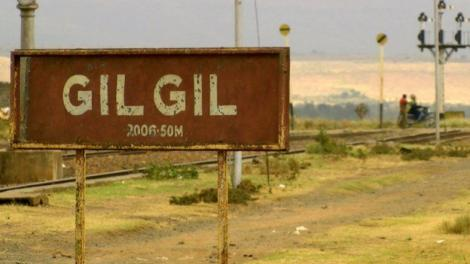 Road signage pictured in the town of Gilgil, Kenya.