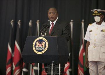 President Uhuru Kenyatta addressing the National Covid-19 Conference at KICC on Monday, September 28, 2020.