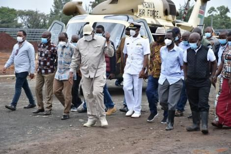 An image of Uhuru and Raila