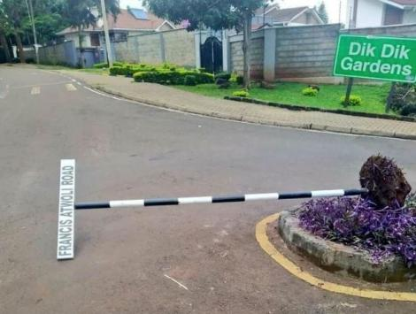 The vandalised road sign named after Francis Atwoli