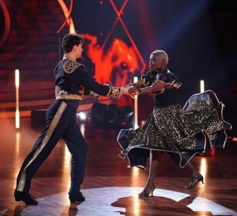 Auma Obama with her dance partner Andrzej Cibis during thedancing competition.