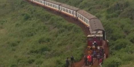 A Nanyuki-bound train which stalled due to mechanical problems on Friday night, January 15.