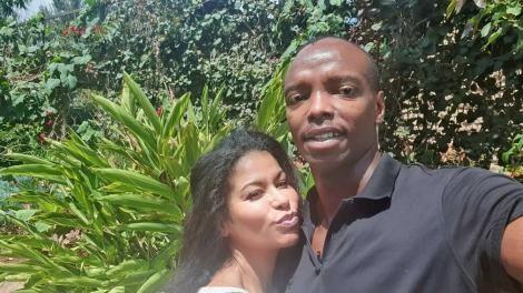 Media personality Julie Gichuru and her husband Andrew.