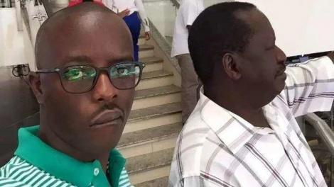 An image of Raila Odinga Junior and Raila Odinga