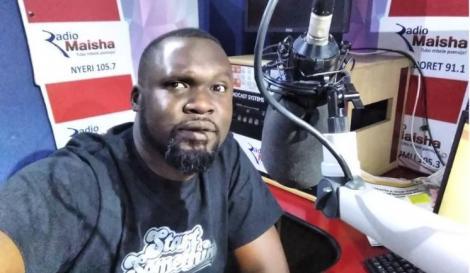 Nick Odhiambo at Radio Maisha studios