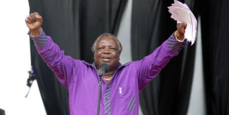COTU Secretary General Francis Atwoli during a past Labour Day celebration