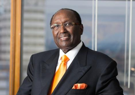 Kenyan business mogul Chris Kirubi strikes a pose.