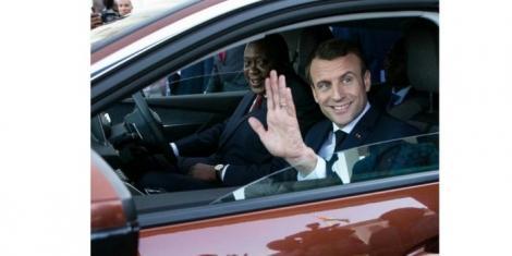 Uhuru and Macron at State House Nairobi.