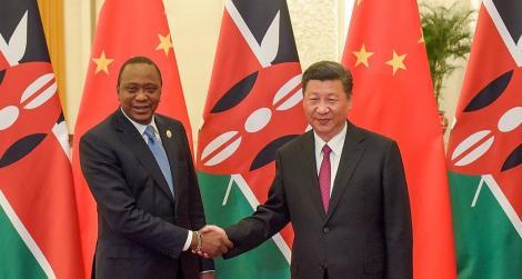 Kenyan President Uhuru Kenyatta (Left) and Chinese President Xi Jinping prior to a bilateral meeting in Beijing, China in 2018.