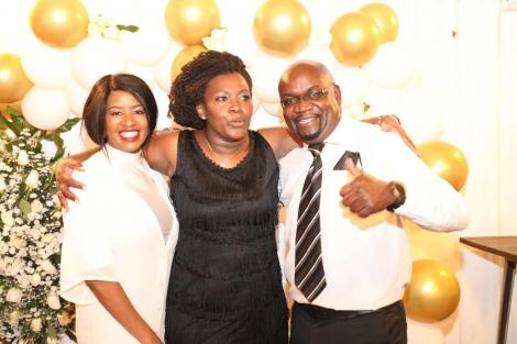 Gender CAS Rachel Shebesh (center) and guests at her birthday Party on Friday, July 2, 2021.