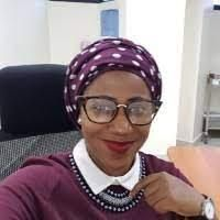 The beautiful Dr Swabra Swaleh in her hospital office