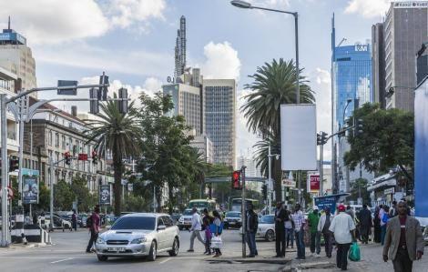 A photo of Nairobi's city centre